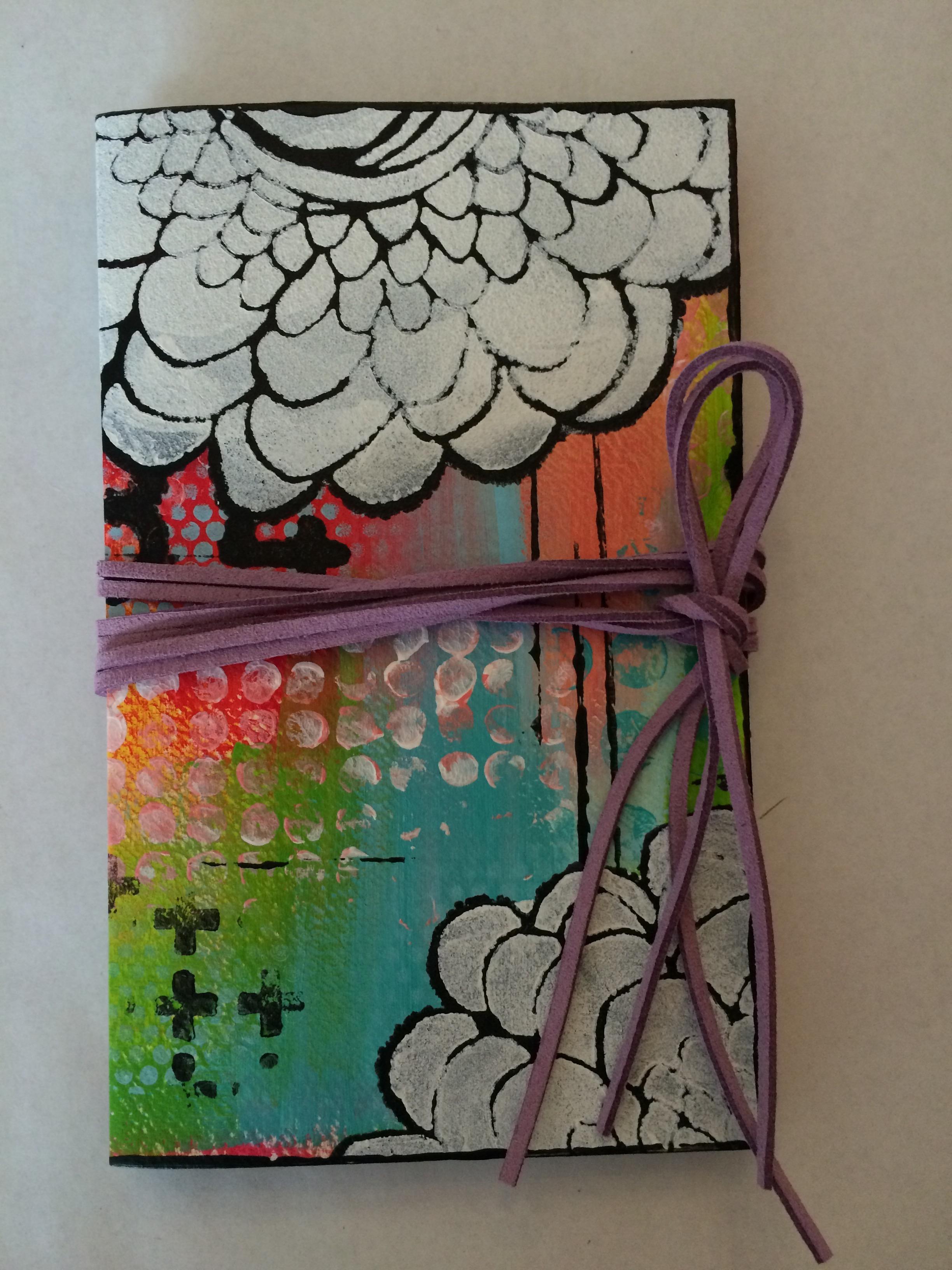 Handmade journal front (Leporello)