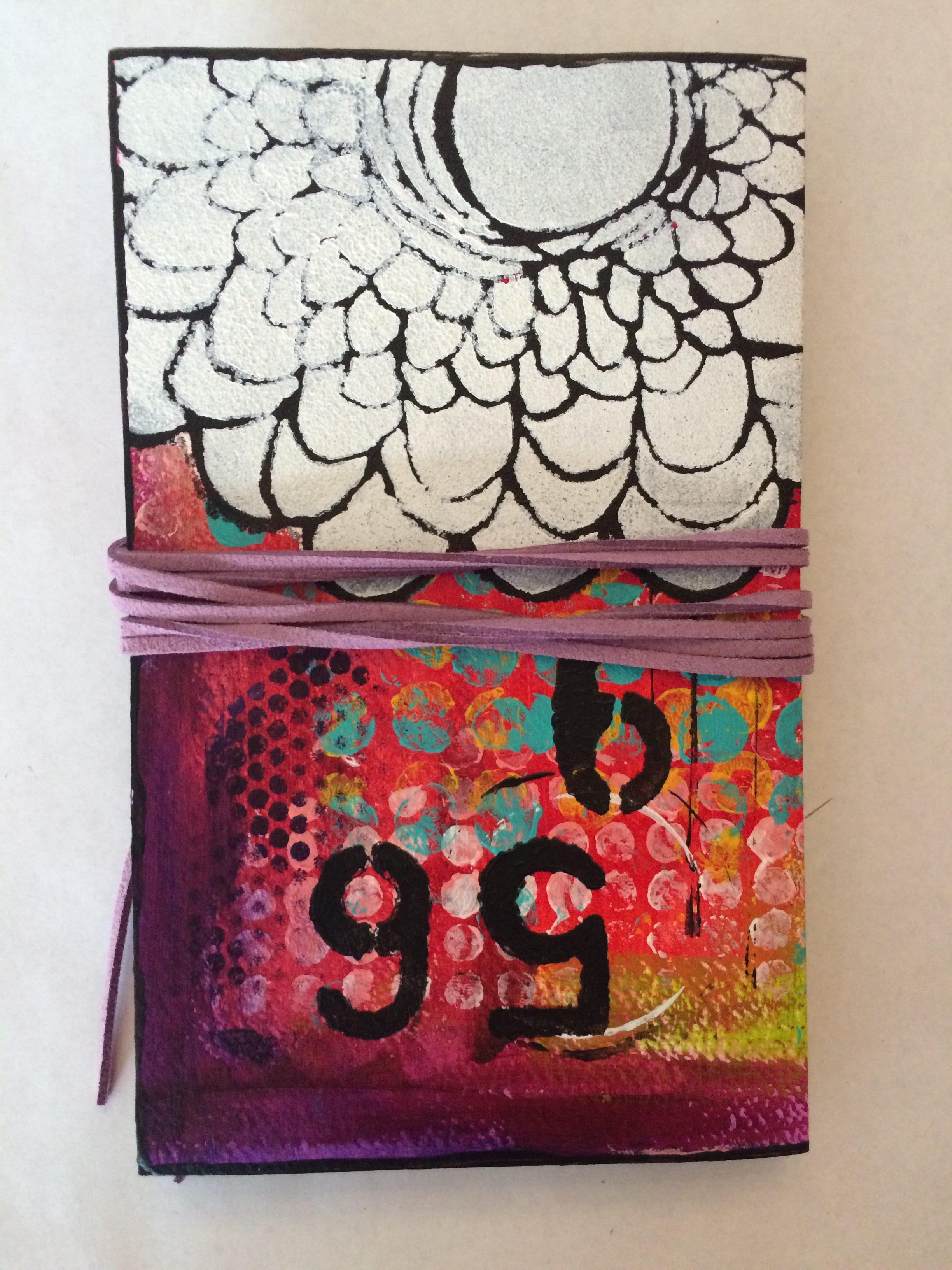 Handmade journal back (Leporello)